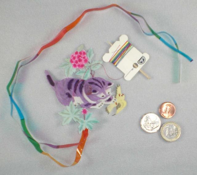 Purple Kitten Kite